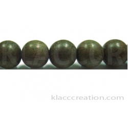 Gray Wood Round Beads 10mm
