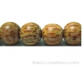 Palm Wood Round Beads 10mm