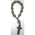 Car Rosary  Graywood Oval 10x15mm