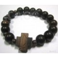 Bracelet Rosary Tiger Ebony Wood 10mm