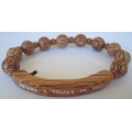 Bracelet Rosary Palmwood 10mm with Bar Name