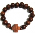 Bracelet Rosary Red Wood 10mm