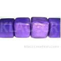 18mm Cubes Capiz Shell Violet