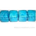 18mm Cubes Capiz Shell Blue