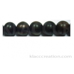 Tiger Ebony Round Wood Beads10mm