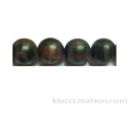 Tiger Ebony Round Wood Beads 15mm