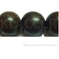 Tiger Ebony Round Wood Beads 20mm