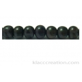 Tiger Ebony Round Wood Beads 6mm