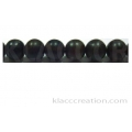 Tiger Ebony Round Wood Beads 8mm