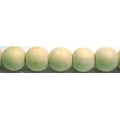 White Wood Round Beads 12mm